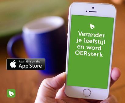 Nieuwe app 'OERsterk' stimuleert gezonde leefstijl