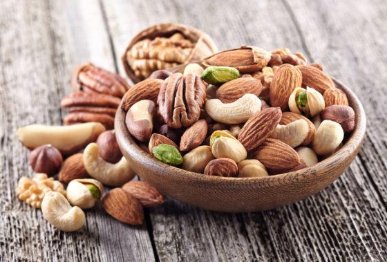 Betere neurologische ontwikkeling van kind als moeder noten eet tijdens zwangerschap