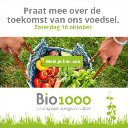 Biologisch gesprek tijdens Bio1000 op 10 oktober