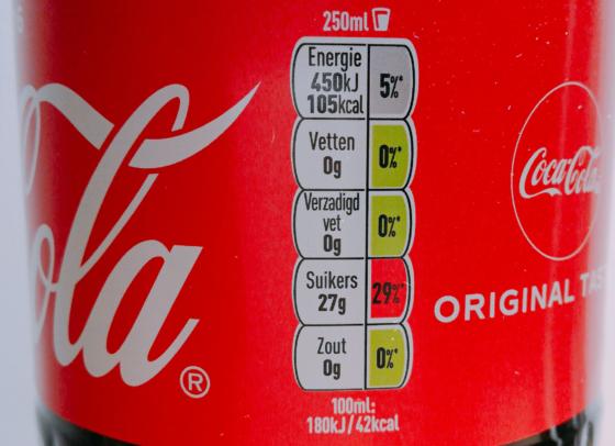 Coca-Cola test etiketteringssysteem met kleurcoderingen