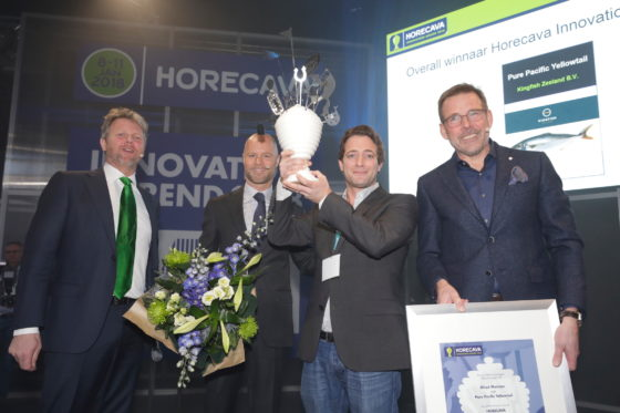 Duurzaam gekweekte topvis wint Horecava Innovation Award 2018