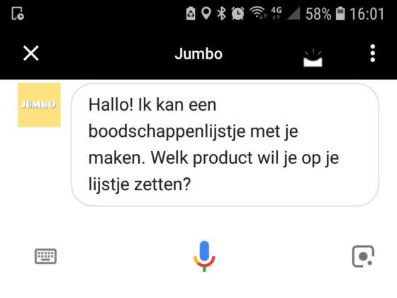 Jumbo- en Albert Heijn-klanten kunnen hun boodschappenlijstje voortaan inspreken