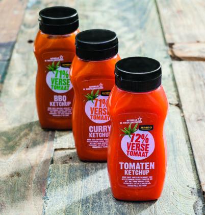 Productnieuws: Jumbo en Verspillingsfabriek introduceren ketchup van 'geredde' tomaten
