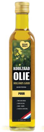 Hollands Goud koude persing Koolzaadolie *