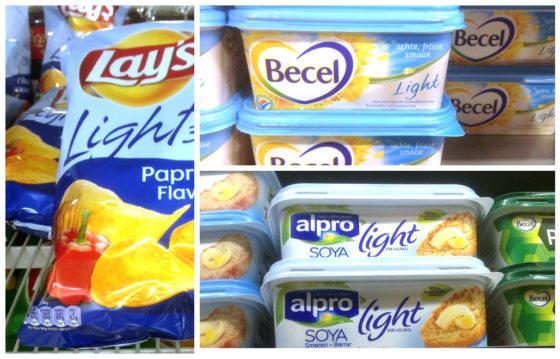 'Lichtblauwe verpakkingen lightproducten aan vervanging toe'
