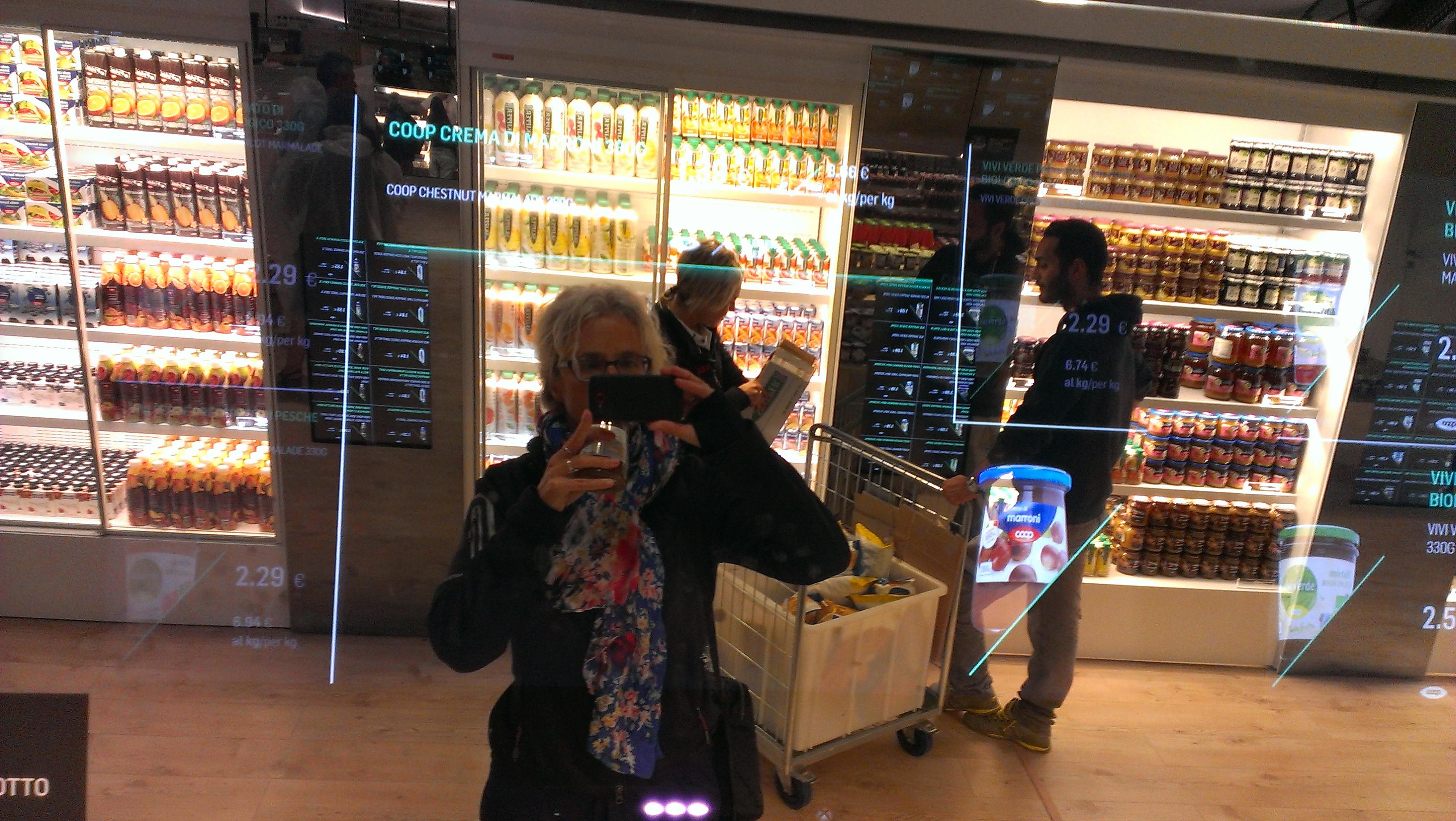 Supermarkt van de toekomst in Milaan