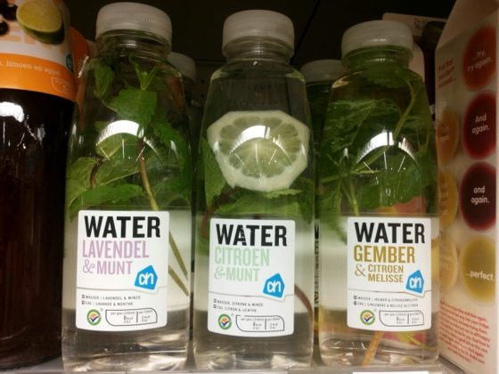 Water met een smaakje steeds populairder