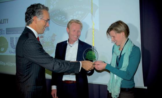 Vivera We Love Nature wint Jaarprijs Goede Voeding 2013 *