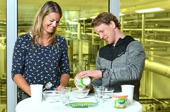 Dafne Schippers en Epke Zonderland helpen met productontwikkeling Campina magere kwark