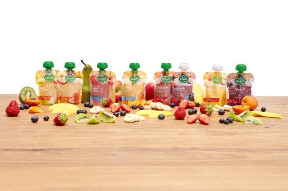 Productnieuws: Nutricia introduceert nieuwe Olvarit knijpzakjes met fruit