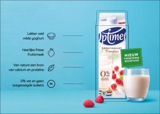Productnieuws: Frieslandcampina lanceert nieuwe receptuur Optimel