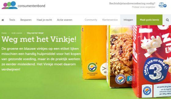 Consumentenbond wil af van 'onzinnig' Vinkje-logo