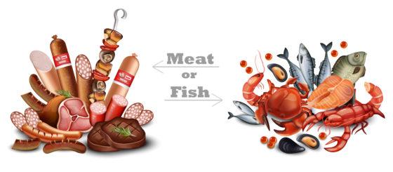 Rood en bewerkt  vlees vervangen door vette vis zorgt voor gezondheidswinst