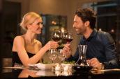 Samen eten op een date is paringsgedrag