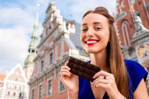Minder depressie door donkere chocolade